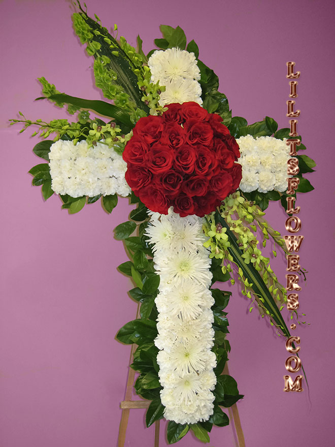 elegant sympathy cross